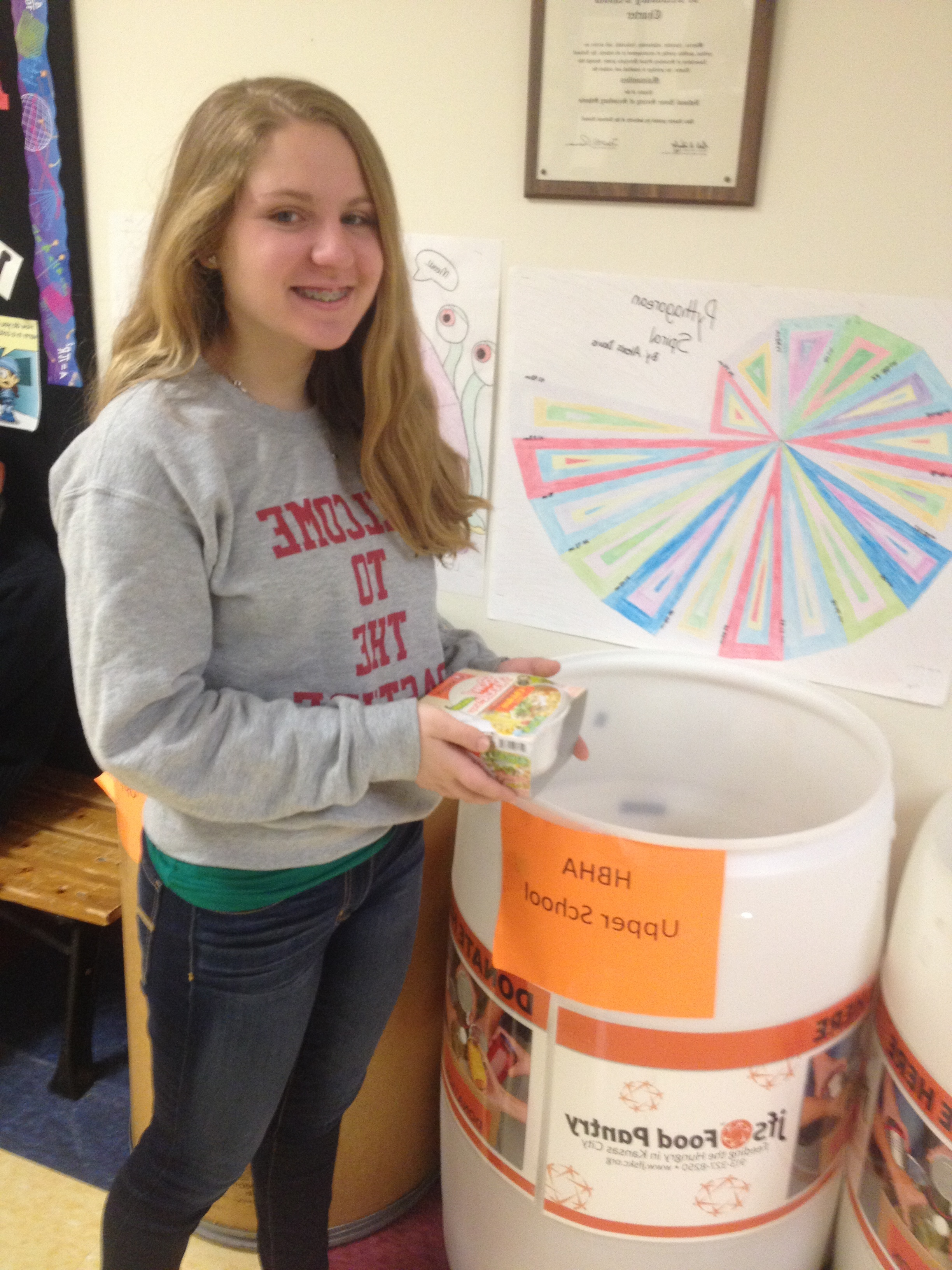 HBHA Battles Hunger with an All-School Food Drive