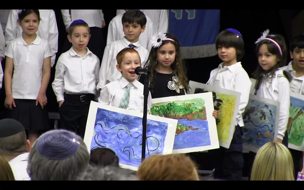 Kindergarteners Celebrate Melava Malkah