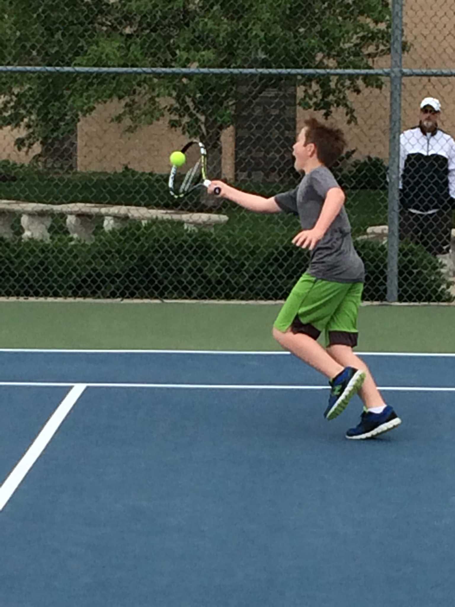 Boys' Spring Tennis Begins with a Slam