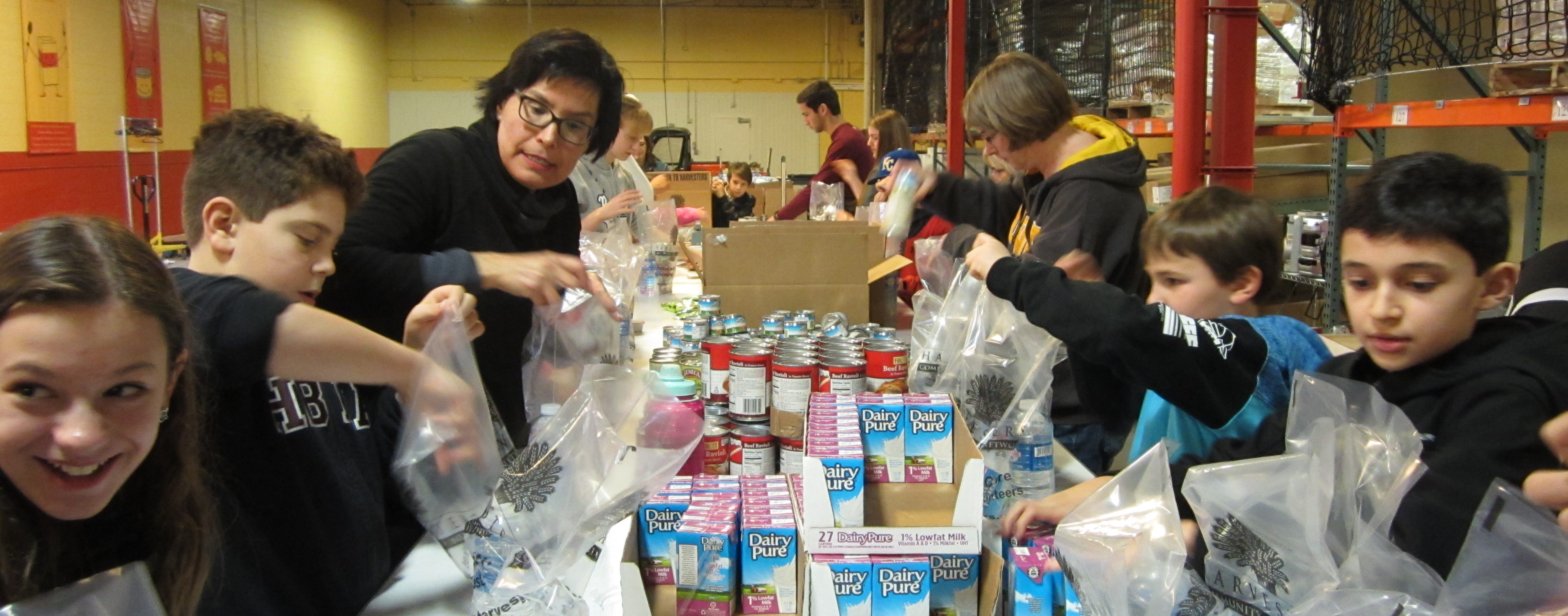 HBHA Volunteers at Harvesters on the Martin Luther King, Jr. Holiday