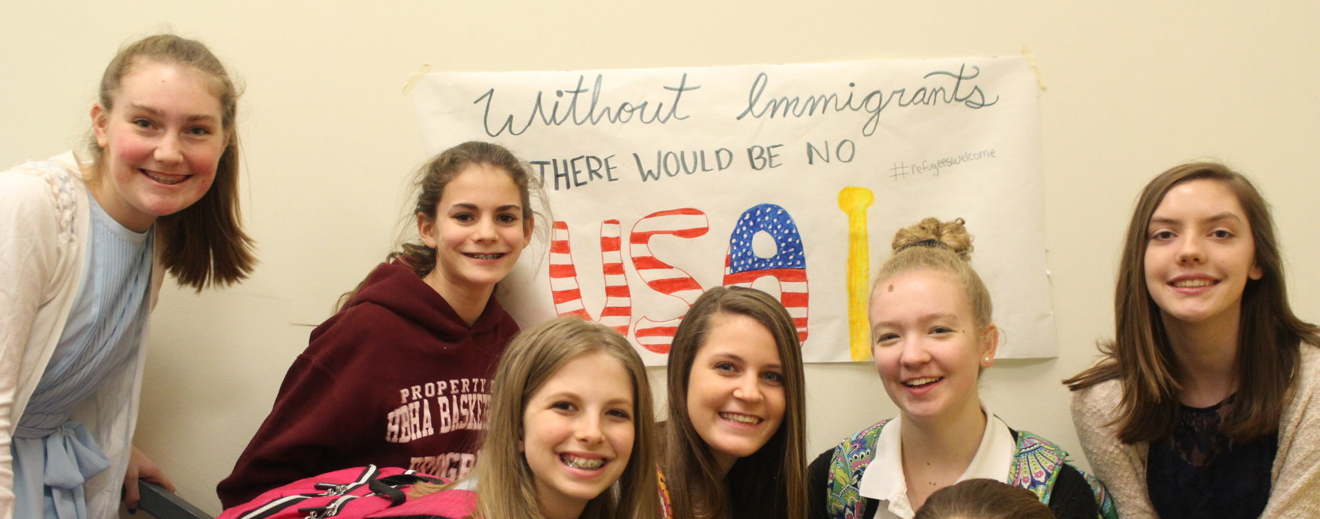 HBHA Students Welcome Refugees Through Artwork