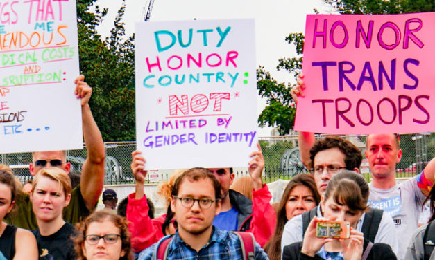 Thousands of Transgender Military Service Personnel Threatened by President Trump's Transgender Ban